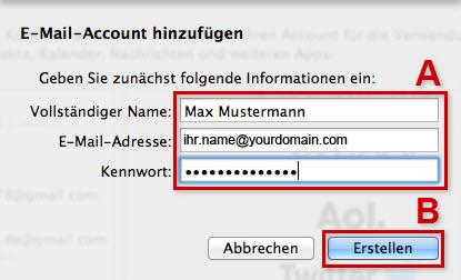 E-Mail-Konto in Apple Mail anlegen - Wissensdatenbank - eXtro